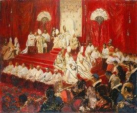Otto Hierl-Deronco: Pontifikalamt seiner Heiligkeit Pius X. in der Peterskirche Rom