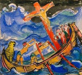Franz Marc: Kreuzfahrende im Sturm