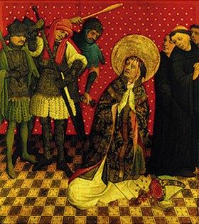 Meister Francke: Thomas-Altar. Der Martertod des heiligen Thomas von Canterbury