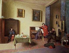 F.H.S Shepherd: Musikalische Gesellschaft in einem Innenra