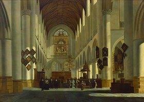 Job Adriaensz Berckheyde: Inneres der Grossen oder St.Bavo-Kirche in Haarlem