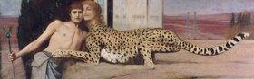 Fernand Khnopff: Die Sphinx (auch: Die Kunst, oder: Die Zärtlichkeit)