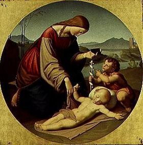Johann Friedrich Overbeck: Maria mit dem Jesuskind und dem Johannes-Knaben