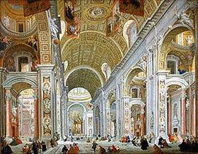 Giovanni Paolo Pannini: Inneres der Basilika die San Pietro in Rom