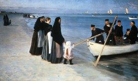 Peter Severin Kroyer: Ausfahrt der Fischer. (Skagen 1894)