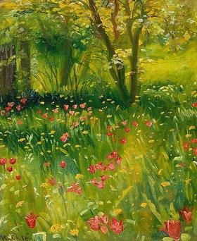 Michael Peter Ancher: Der Frühlingsgarten