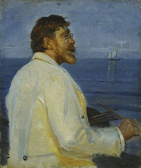 Michael Peter Ancher: Bildnis des Malers Peter Severin Kroyer