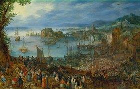 Jan Brueghel d.Ä.: Grosser Fischmarkt