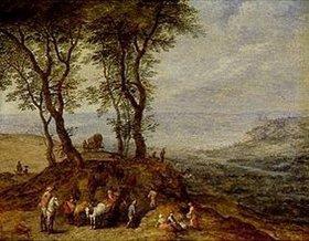 Jan Brueghel d.Ä.: Rast auf einem Hügel