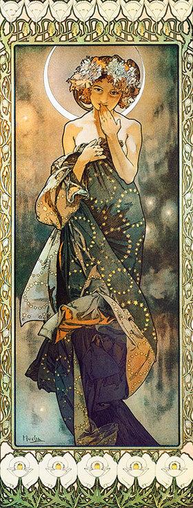 Alfons Mucha: Sterne: Der Mond. 1902. (Variante B)