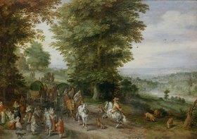 Jan Brueghel d.Ä.: Belebte Landstrasse