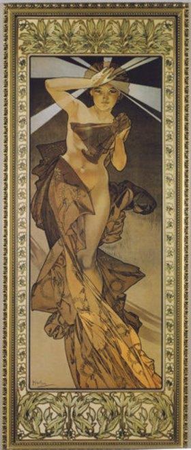 Alfons Mucha: Sterne: Der Morgenstern. 1902. (Variante B)