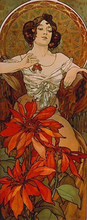 Alfons Mucha: Edelsteine: Rubin