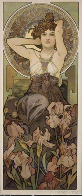 Alfons Mucha: Edelsteine: Amethyst