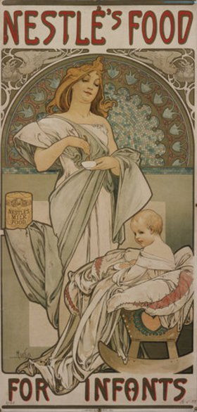 Alfons Mucha: Plakat Nestlé's Food for Infants