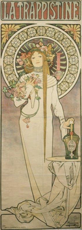 Alfons Mucha: Werbeplakat für 'La Trappistine'