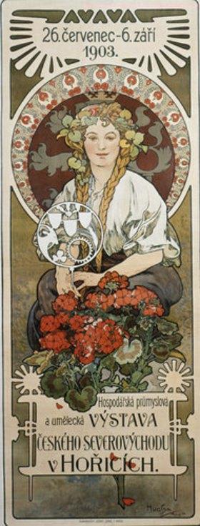 Alfons Mucha: Plakat Vystava ceského... (Ausstellung der Nordost-Tschechei in Honce)