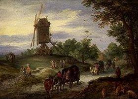 Jan Brueghel d.Ä.: Die überschwemmte Landstrasse