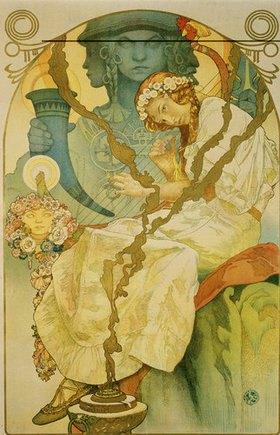 Alfons Mucha: Plakat für die Ausstellung Das slawische Epos