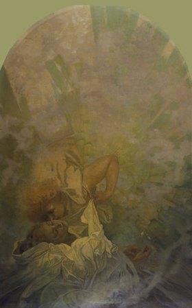 Alfons Mucha: Der Kuss des Frühlings