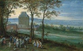 Jan Brueghel d.Ä.: Erzherzog Albrecht und Isabella vor Schloss Mariemont