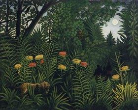 Henri Rousseau: Urwald mit Tiger und Jägern