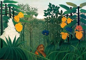 Henri Rousseau: Die Mahlzeit des Löwen