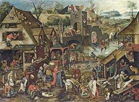 Pieter Brueghel d.J.: Die Niederländischen Sprichwörter