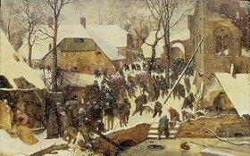 Pieter Brueghel d.Ä.: Die Anbetung der Könige im Schnee