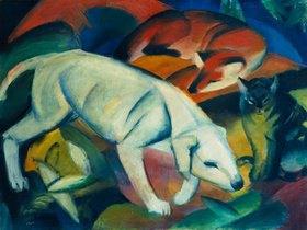 Franz Marc: Drei Tiere (Hund, Fuchs und Katze)