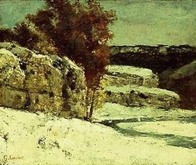Gustave Courbet: Winterlandschaft