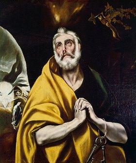 Greco El (Dominikos Theotokopoulos): Der reuige hl. Petrus