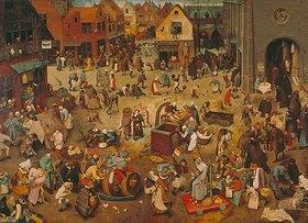 Pieter Brueghel d.Ä.: Der Kampf zwischen Fasching und Fasten
