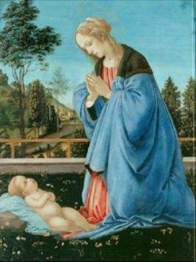 Filippino Lippi: Die Anbetung des Kindes