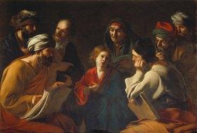 Bartolomeo Manfredi: Der junge Christus und die Schriftgelehrten