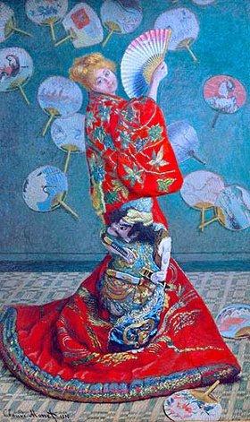 Claude Monet: Madame Monet im Kimono (La Japonaise). 1876.