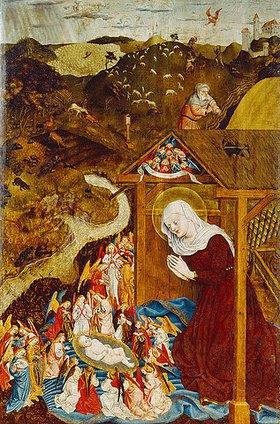 Meister der Pollinger Tafeln: Die Geburt Christi