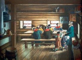 Boris Michailowitsch Kustodiev: In einer russischen Dorfschule
