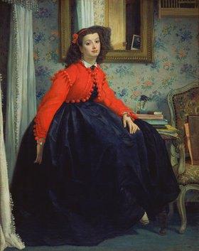 James Jacques Tissot: Junge Frau in roter Weste