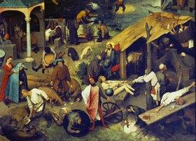 Pieter Brueghel d.Ä.: Die niederländischen Sprichwörter (Detail rechts unten)