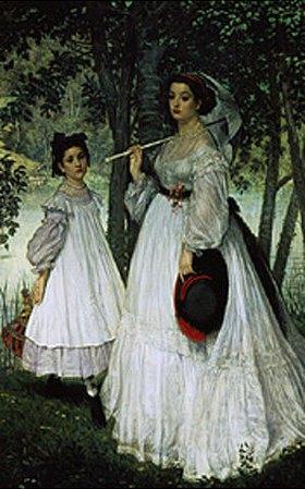 James Jacques Tissot: Portraits im Park (Die Schwestern)