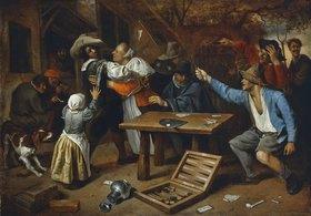 Jan Steen: Der Streit beim Kartenspiel
