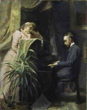 Emma Sparre: Am Piano (Verner von Heidenstam?)