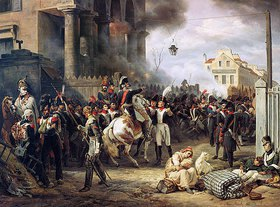 Emile Jean Horace Vernet: Der Kampf an der Barrikade in Clichy am 30.März