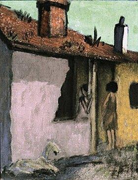 Otto Mueller: Zigeunerhütte mit Ziege