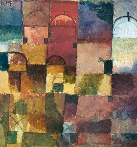 Paul Klee: Rote und weiße Kuppeln. 1914.