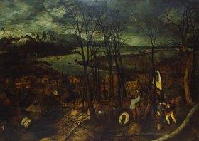 Pieter Brueghel d.Ä.: Der düstere Tag - (Aus: Die vier Jahres- zeiten)