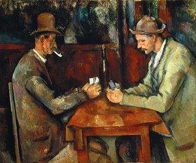 Paul Cézanne: Die Kartenspieler. Gegen