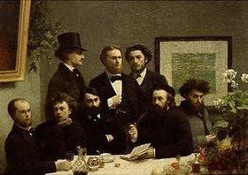 Henri de Fantin-Latour: Coin de table (französische Dichter an einem Tisch)