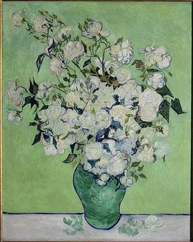 Vincent van Gogh: Vase mit weißen Rosen